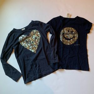 2 Crewcuts sequin t-shirts